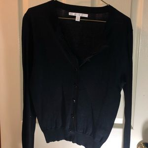 XS LC Lauren Conrad Black Cardigan Sweater